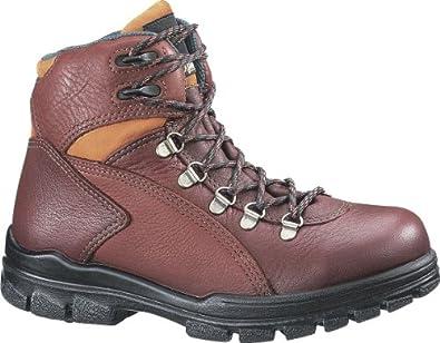 """Women's Wolverine DuraShocks 6"""" Waterproof Steel Toe EH Work Boots Brown, 7EE"""