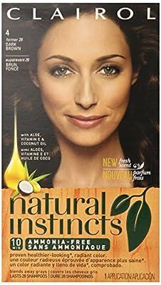 Clairol Natural Instincts, Semi-Permanent Hair Color, Brunette, 1 Kit