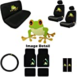 51uua6UEvdL. SL160  15PC Green Frog Shield Auto Accessories Interior Combo Kit Gift Set