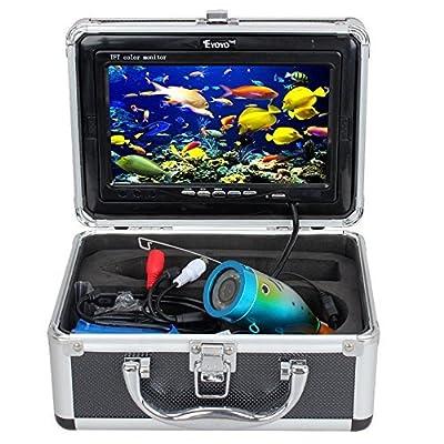 "Eyoyo Brand HD 1000TVL Camera 15M Fish Finder Ice/Sea/River Fishing w/ 7"" HD Monitor"
