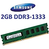 Samsung Original 2 GB 240 pin DDR3-1333 (1333Mhz, PC3-10600, CL9) 128Mx8x16 single side (M378B5773CH0-CH9) für DDR3 + i5 Mainboards - 100% kompatibel zu 10666Mhz, PC3-8500