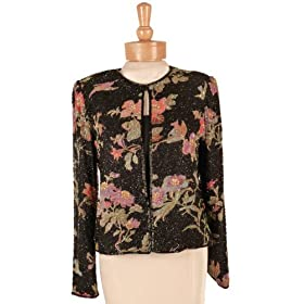Floral Beaded Jacket - Best seller for Evening, Formal, Party, Wedding, Separates by Sean Collection (10594)