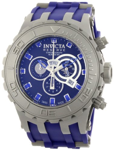 Invicta Men'S 0802 Reserve Collection Subaqua Specialty Chronograph Blue Polyurethane Watch