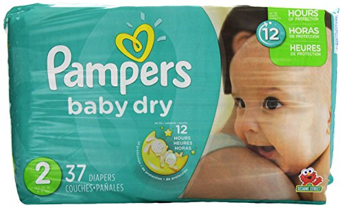 Pampers Baby Dry Diapers - Size 2 - 37 ct - 1