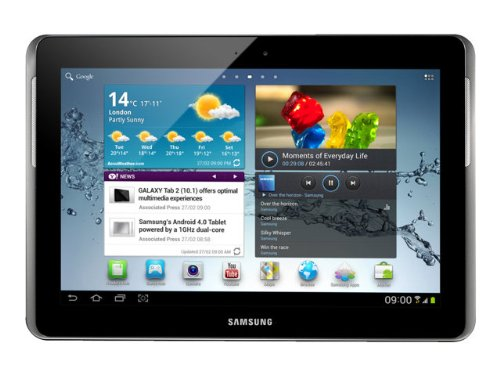 T-Mobile TTASAGALAGY4GTHR Samsung Galaxy Tab 2 10.1 - Tablet - Android 4.0.4 - 16 GB - 10.1 inch PLS ( 1280 x 800 ) - rear camera + front camera - USB host - microSD slot - Wi-Fi, Bluetooth - 3G - T-Mobile - titanium silver
