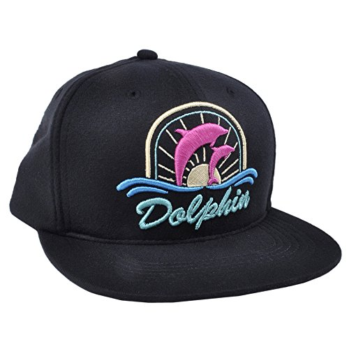 Authentic Ocean Sunset Pink Dolphin Sun Street Snapback Hat