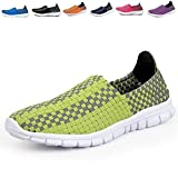 Men & Women Easy Wear Dry Fast Light Weight Breathable Cool Comfortable Mesh Outdoor running Walking shoes Green US10/EU44/28.0CM