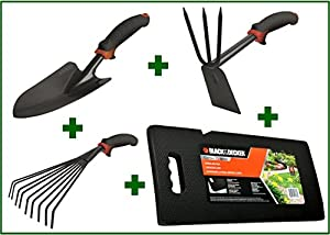 Sale gardening gift set 4 pc black and for Lawn and garden tools for sale