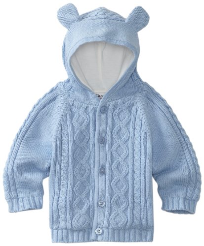 6a94751cae68 Kitestrings Baby-boys Newborn Hooded Cardigan Lined Sweater
