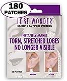 Lobe Wonder 耳たぶサポートパッチ(180個) イヤリングで損傷した耳たぶの外観を簡単に修復