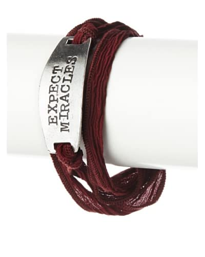 Alisa Michelle Expect Miracles Silk Wrap Bracelet
