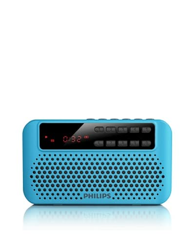 Philips Radio Portatile Usb Aem120Blu/00 Blu/Nero
