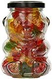 Nakpunar 3 pcs, 9 oz Glass Bear Jars for Honey, Candies, Piggy Banks