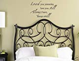 LOVED YOU YESTERDAY LOVE YOU STILL ALWAYS HAVE ALWAYS WILL Vinyl wall lettering stickers quotes and sayings home art decor decal