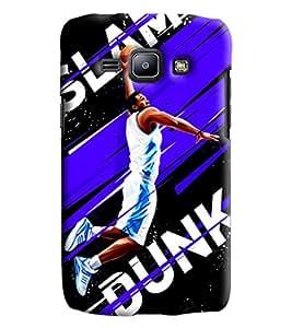 Blue Throat Slam Dunk Basket Baprinted Designer Back Cover/Case For Samsung Galaxy J1 Ace