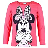 DISNEY Niñas Minnie Mouse Camisa, rosa, talla 128, 8 años