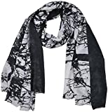 Cherry Berry Women's Polyester Stole (Black and White)