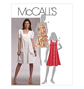 MCCALLS PATTERN M5656 MISSES'/MISS PETITE JUMPER AND DRESSES SIZE F5 16-24