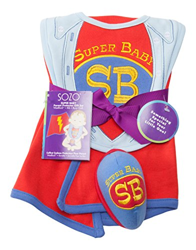 Sozo Super Baby 3 Piece Gift Set, Red/Blue