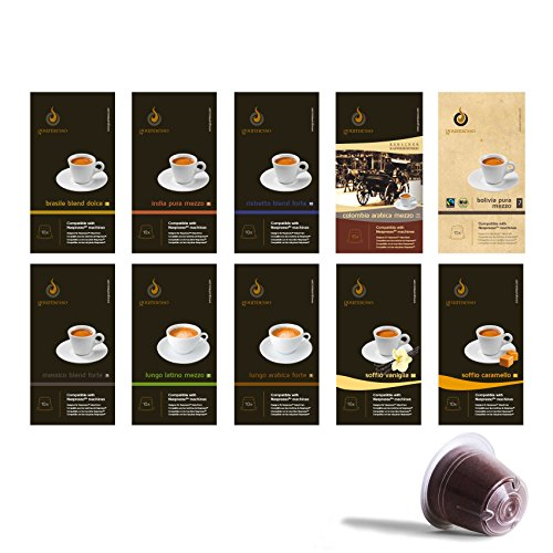 Shop for Gourmesso Trial Bundle - 100 Nespresso ® Compatible Coffee Capsules / Pods - Gourmesso
