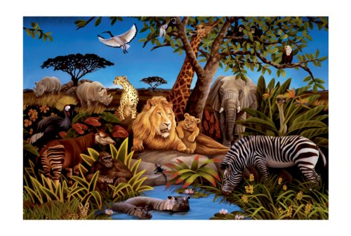 York Wallcoverings York Kids Iv Mp4961M Jungle Mural, Multi back-78991