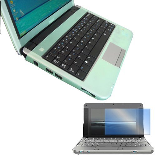 Dell Inspiron Mini 9 Series Laptop Accessory Combo Bundle Pack: Green Silicone Skin and a Screen Guard / Protector for your Netbook Computer