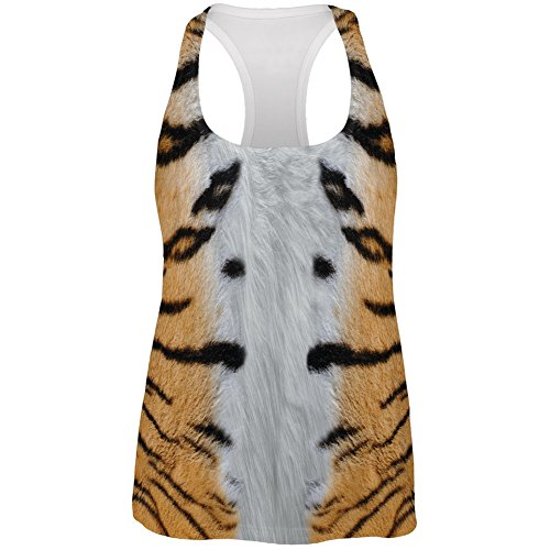 Halloween Tiger Costume All Over Womens Racerback Tank Top
