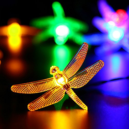Solar Outdoor String Lights by ApexPower, 8 Modes 20LED Dragonfly Waterproof eBay
