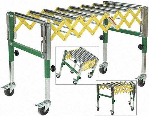 Woodtek 146276, Material Handling, Rollers, Accordion In/Out Feed Roller Stand