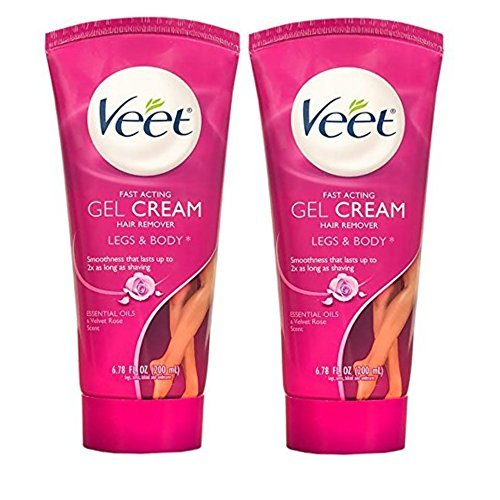 Veet Fast Acting Gel Cream Hair Remover, Legs and Body, Essential Oils and Velvet Rose Scent, 6.78 Oz (Pack of 2) (Hair Removal Legs compare prices)