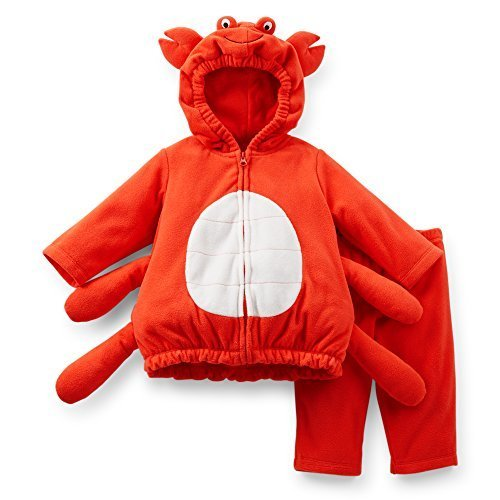 [Carter's Halloween Costume Baby Crab Red Fleece 2 Pcs 6-9 Months NEW] (Crab Costumes)