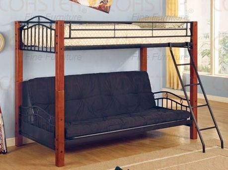 Beautiful Coaster Bunk Bed with Futon Convertible Twin