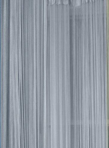 Tenda separatrice a fili per porta finistra argento cm 96x300 for Tende a fili per interni
