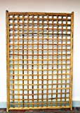 Framed Bamboo Panel with Square Lattice Opening 72H x 48