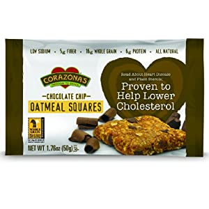 Corazonas Oatmeal Squares, Chocolate Chip, 12 – 1.76-Ounce Bars