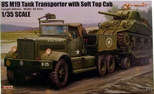 MRT63502 1:35 Merit US M19 Tank Transporter with Soft Top Cab [MODEL BUILDING KIT] (Tank Transporter compare prices)
