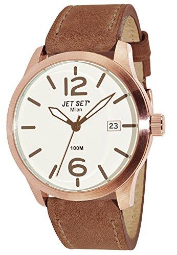 Jet Set J6380R-656 - Reloj de pulsera hombre, piel, color marrón