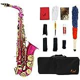 LADE セット3色選択 Eb E-Flat アルトサックス サックス ブラス製 吹奏楽 練習用 本番にも 使い勝手はあなた次第!彫刻入り