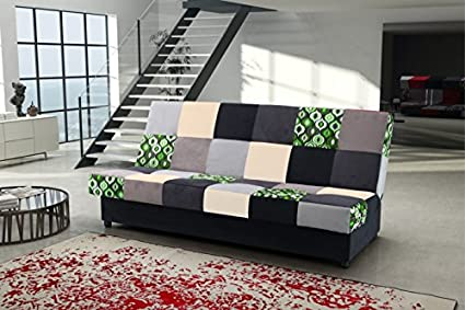 CORAL colourful fabric sofa bed couch with storage sleeping area living room office children bedroom furniture couches