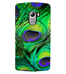 ColourCraft Peacock Feather Design Back Case Cover for LENOVO VIBE X3 LITE