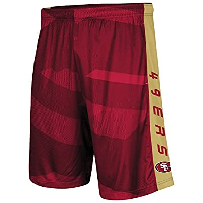"""San Francisco 49ers Majestic NFL """"Out Run"""" Men's Synthetic Shorts"""