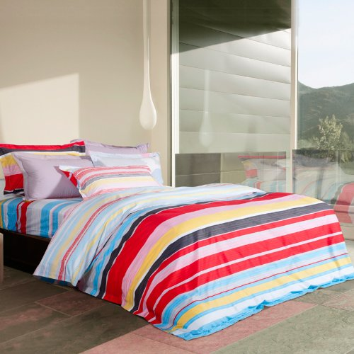Luxury Double Sided Tencel&Silk Bedding Set-Mysterious Land (Queen) front-919984