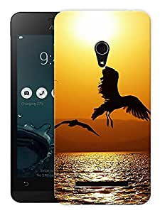 "Humor Gang Eagle Bird Flying High Printed Designer Mobile Back Cover For ""Asus Zenfone 6"" (3D, Matte, Premium Quality Snap On Case)"