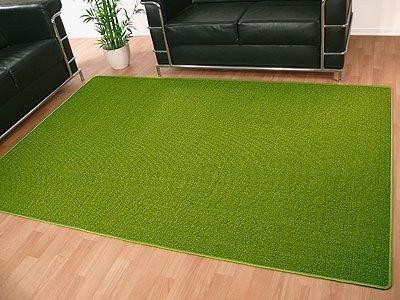 Sisal Natur Teppich Dekowe Grün in 22 Größen, Größe:160×200 cm