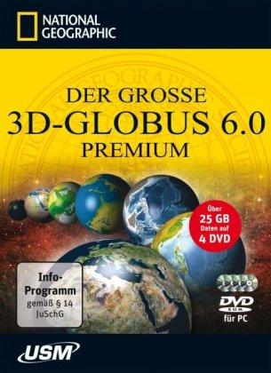Der große National Geographic 3D-Globus 6.0 Premium (4 DVD-ROMs)