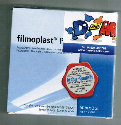 D&M FILMOPLAST P - Nastro per la riparazione di libri, invisibile