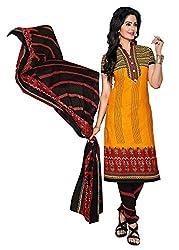 RK Fashion Yellow Colour Cotton Unstitched Dress Material (CHANDANI1027-Yellow-Free Size)
