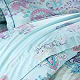 LELVA-Chic-Bohemian-Style-Bedding-Set-Tencel-4-Piece-Boho-Ethnic-Bedding-Boho-Duvet-Cover-Set-Full-Queen