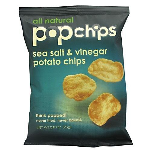 Popchips Sea Salt & Vinegar Potato Chip (24x.8 Oz) boulder canyon cut potato chips avocado oil and sea salt 5 25 ounce pack of 12