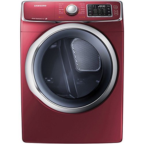 Samsung Dv42H5400Ef 7.5 Cu. Ft. Front-Load Electric Steam Dryer With Drying Rack, Merlot